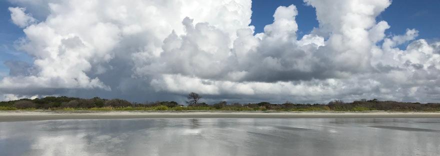 Boundaries: ocean and sky