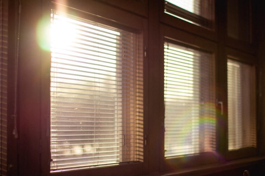 Window with sunrise